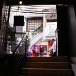 l'escalier vers la 3ème salle