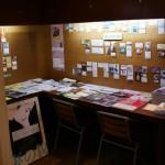 Le petit coin lecture dans le hall de Kyoto Cinema