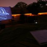les projections sur la terrasse