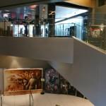 le couloir vers le balcon VIP