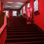 du rouge pour l'escalier