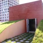 l'accès à la terrasse sur le toit