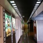 le couloir vers les salles
