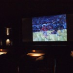 l'écran vu du bar