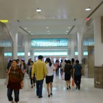 l'entrée du mall à la sortie du métro