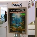Promo pour la salle IMAX au rez-de-chaussée