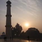 8 Le lever du soleil au Taj Mahal